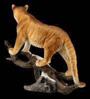 Cougar Figurine on Limb