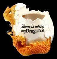 Drachen Blumentopf - Home is where my dragon is
