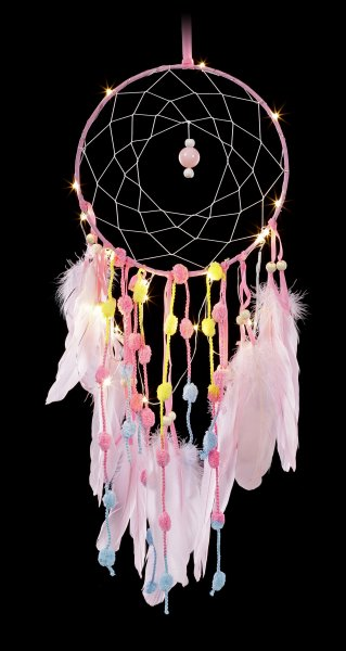 Dreamcatcher with LED - Rose Dreams