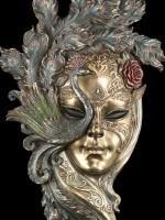 Große Venezianische Maske - Peacock Garden