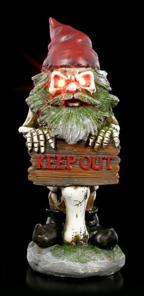 Zombie Gartenzwerg Figur mit LED - Keep Out