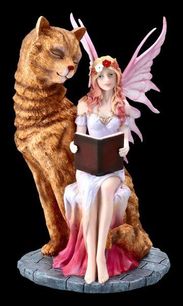 Elfen Figur - Studa mit großer Katze