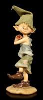 Pixie Kobold Figur wirft Apfel