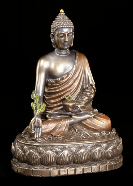 Buddha Figur - Bhaisajyaguru auf Lotusthron