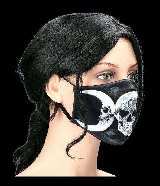 Face Covering with Skull - Dark Goddess Mask