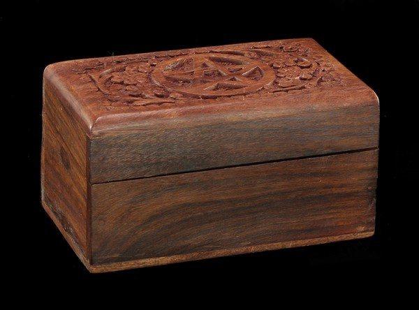 Magische Holzbox - Pentagramm Siegel