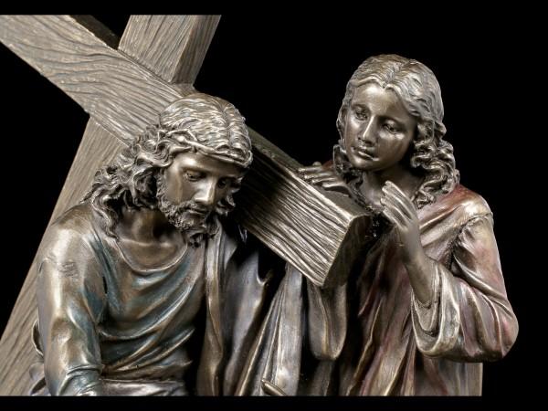 Jesus Figur - Kreuzweg - bronziert