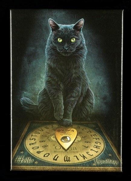 Magnet mit Katze - His Master's Voice