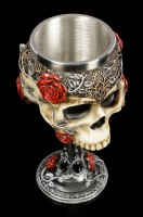 Totenkopf Kelch - Gothic Roses