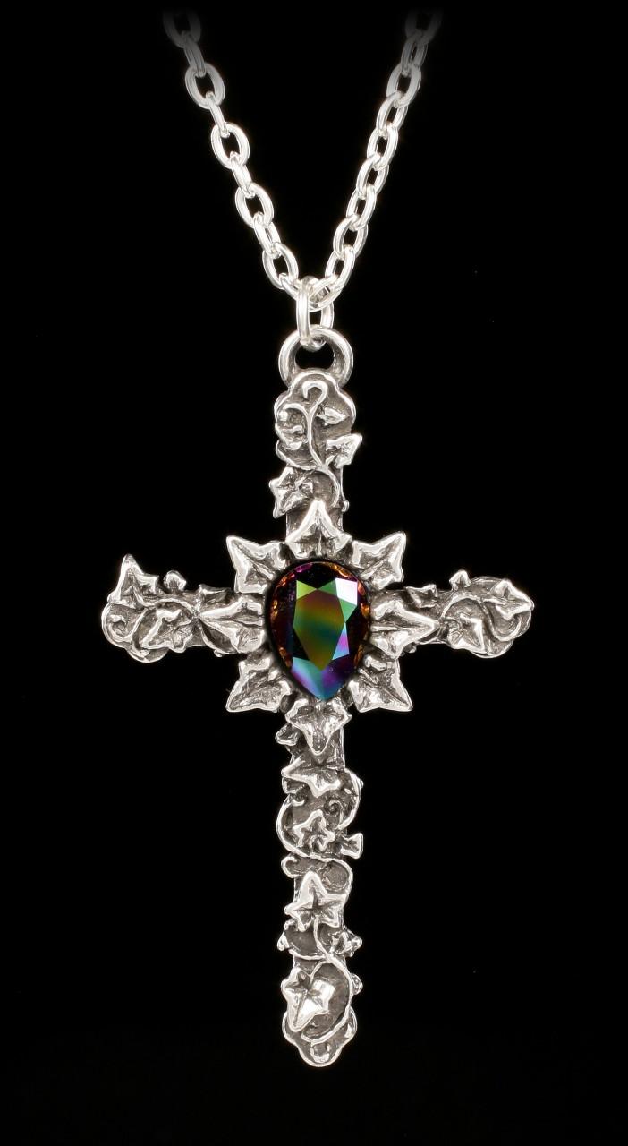 Alchemy Gothic Necklace - Ivy Cross