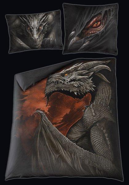 Drachen Doppel-Bettwäsche - Majestic Draco
