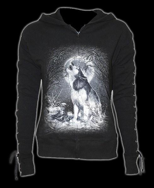 Kapuzenjacke Damen Fantasy - White Wolf