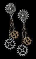 Alchemy Steampunk Ohrringe - Machine Head