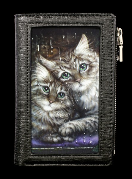 Wallet with 3D Cats - Longing