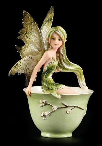 Fairy Figurine - Green Tea Faery