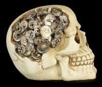 Totenkopf mit Zahnrädern