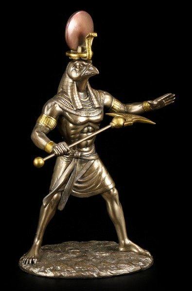 Ra Figur - Ägyptischer Sonnengott - bronziert
