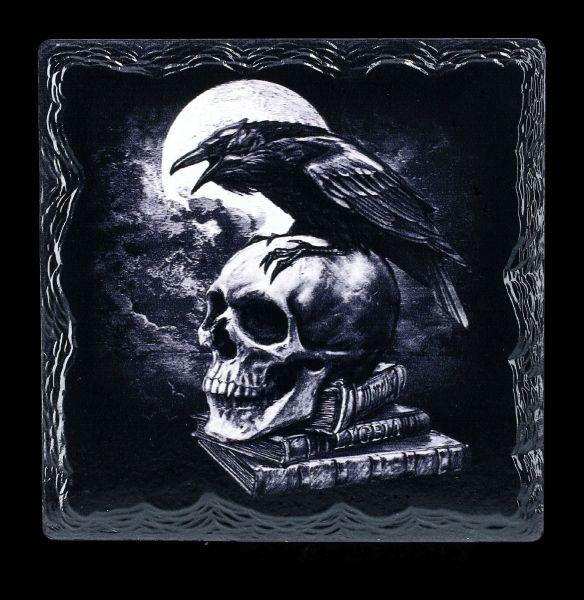 Untersetzer Rabe - Poes Raven