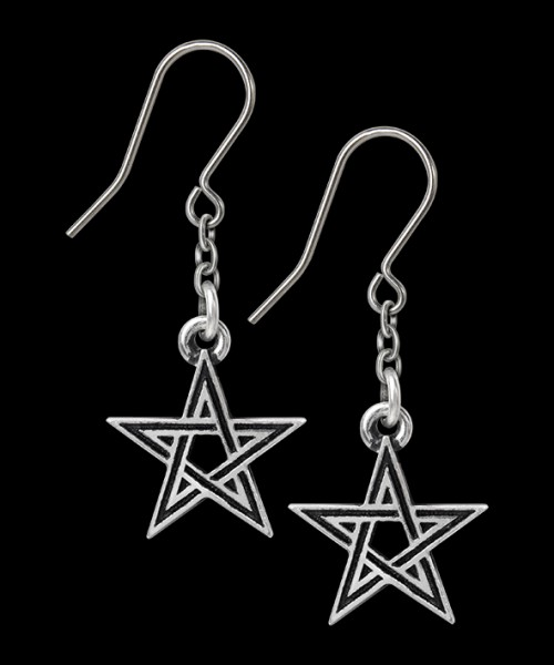 Alchemy Pentagramm Ohrringe - Black Star