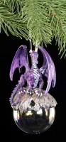 Drachen Christbaum-Schmuck - Hoarfrost lila