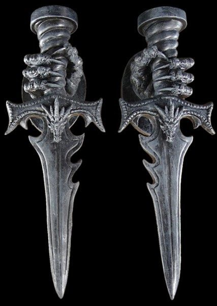 Wall-Tealightholder Set of 2 - Dragons Claw
