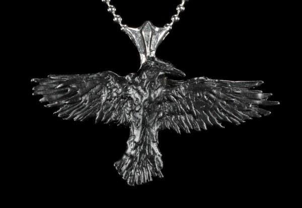 Black Raven - Alchemy Gothic Pendant