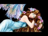 Fairy Figurine - Shila sleeps on Stump