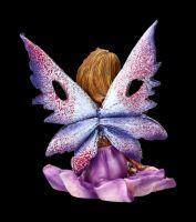 Elfen Figur - Mini Fee auf Lotusblüte
