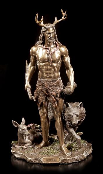 Herne Figur - Der Gehörnte Gott mit Tieren