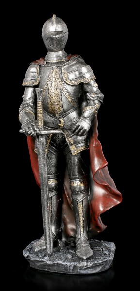 Knight Figurine with red Cloak and Sword