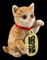 Lucky Cat Figur - Maneki Neko getigert