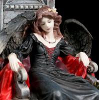 Gothic Angel Figurine on Throne