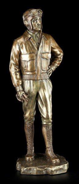 Piloten Figur aus dem 2. Weltkrieg mit Kappe