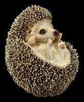Small Hedgehog Figurine - Balled up on Back