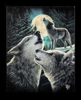 Small Canvas - Wolf Song by Lisa Parker