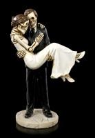 Skeleton Couple Figurine - Groom carries Bride