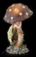 Elfen Nachtlicht mit Pilz - Grün
