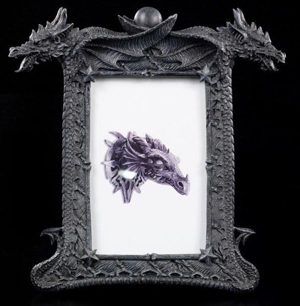 Drachen Bilderrahmen - Zwei Drachenköpfe