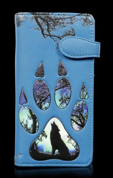 Geldbörse mit Pfotenabdruck - Wolf Footprints