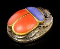 Scarab Figurine red-blue