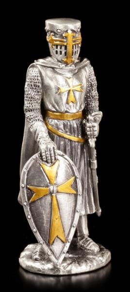 Zinn Ritter - Malteser mit Schild und Schwert