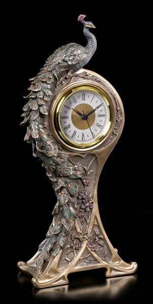 Art Nouveau Table Clock - Peacock