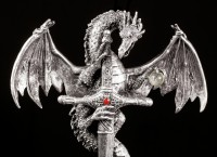 Wall Plaque - Dragon with Sword