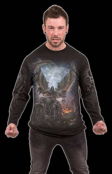 Langarmshirt Fantasy Reaper - Ride or Die