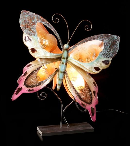 Metall Figur - Schmetterling Lampe