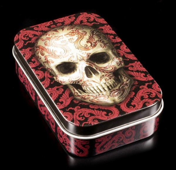 Metall Dose mit Totenkopf - Oriental Skull by Anne Stokes