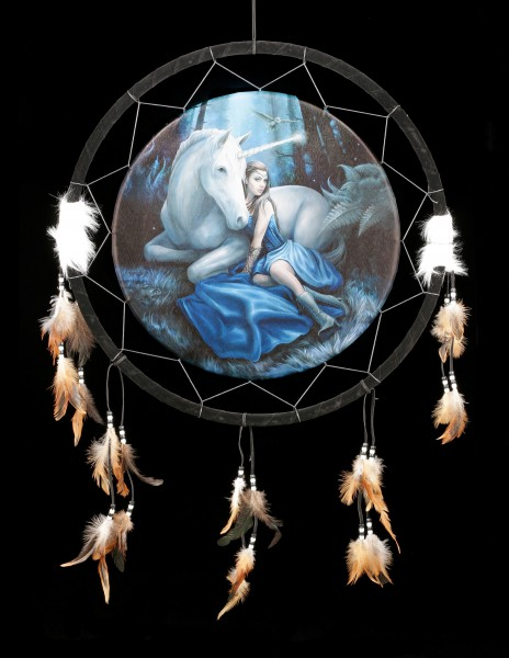 Large Dreamcatcher with Unicorn - Blue Moon