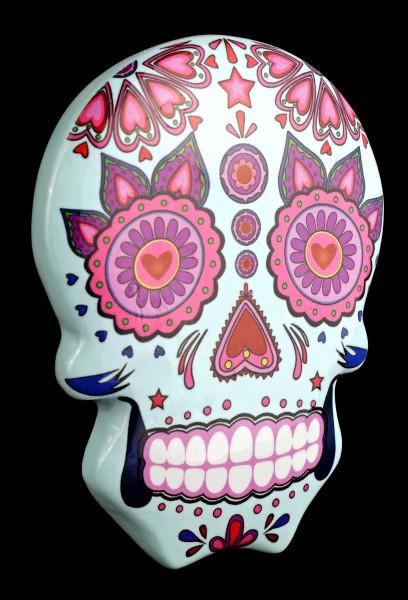 Magnet - Mexikanischer Day of the Dead Totenkopf - Blau