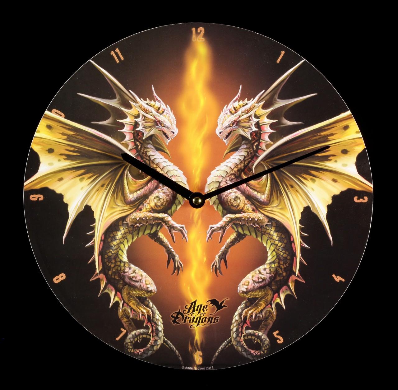 Wanduhr - Age of Dragons - Desert Dragon