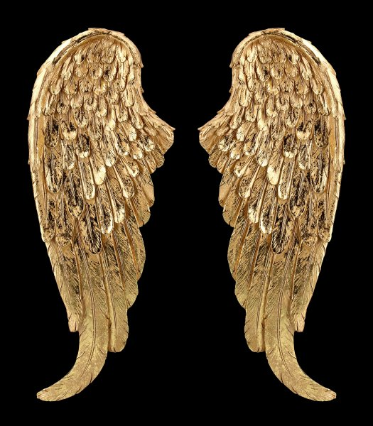 Wall Mounted Angel Wings - Gold-Effect